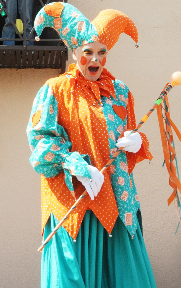 Stilt walkers were among the performers who entertained at last year's event.