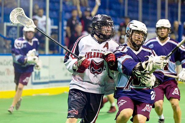 The Delta Islanders were beat by the Calgary Mountaineers 13-5 in the first game of 2016 Minto Cup on Aug. 20 at the Langley Events Centre. Delta was eliminated after the round robin portion of the tournament with a record of 1-3.