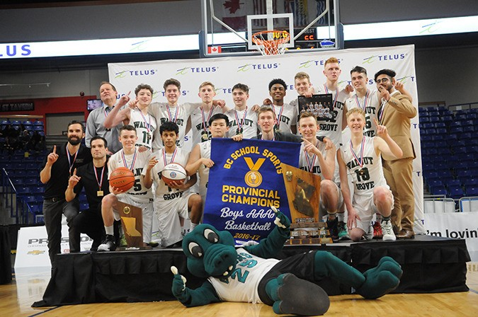 The Walnut Grove Gators are the BC 4A senior boys basketball champions after defeating Kelowna 78-65.