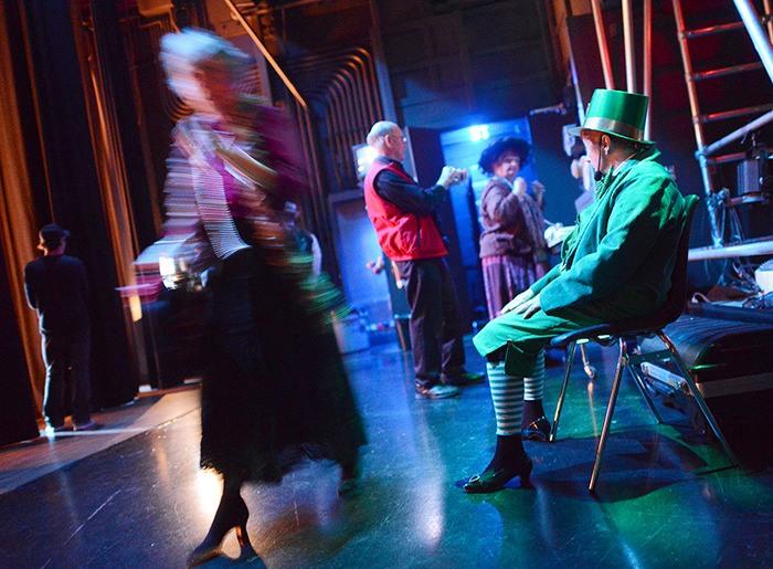 A leprechaun gets a backstage pass.