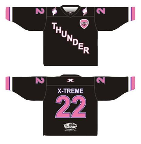 Online bids are now being accepted for special jerseys the Langley Thunder senior A lacrosse team will wear on July 9. Money raised will go to the Tessa Beauchamp Foundation.