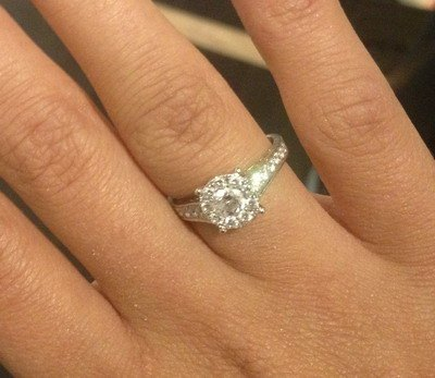 This ring, worth $3,000, was stolen from a parked vehicle in Langley.