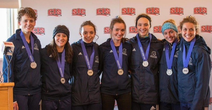 The Trinity Western Spartans women's cross-country team won the silver medal at the CIS national championships on Nov. 8.