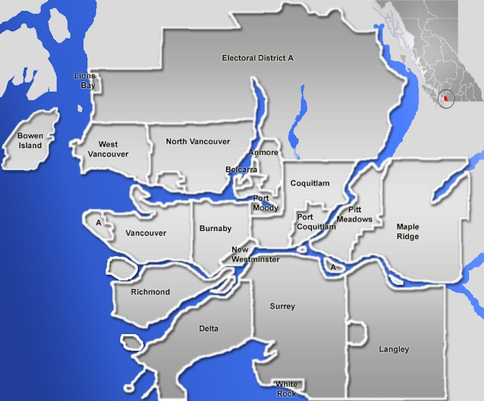 Metro Vancouver is divided into 24 local governments, from the largest like Vancouver and Surrey, to the tiniest, such as Lions Bay, Anmore, Belcarra and the Tsawwassen First Nation.