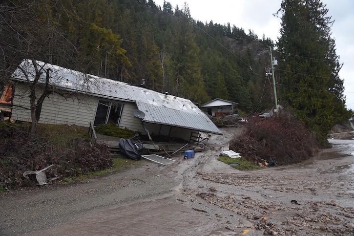 Two homes destroyed in Sunnybrae mudslide.