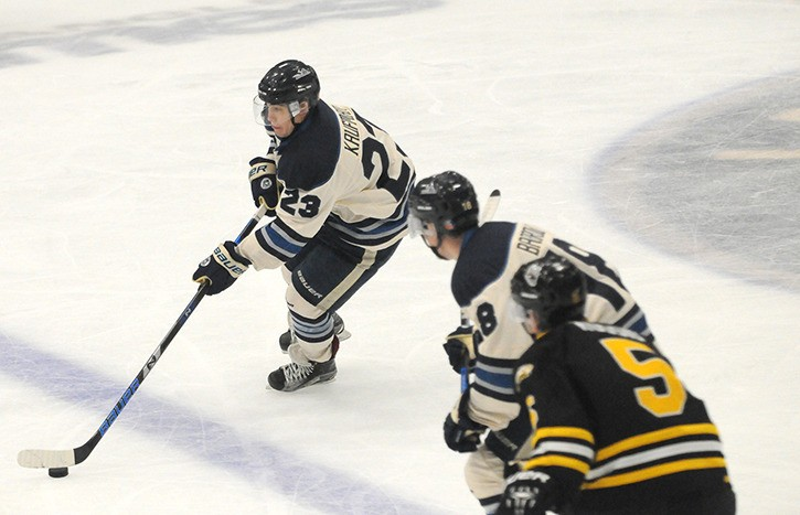 Langley Rivermen's Max Kaufman scored three times over the weekend to give him a team-leading five goals and nine points in five games.