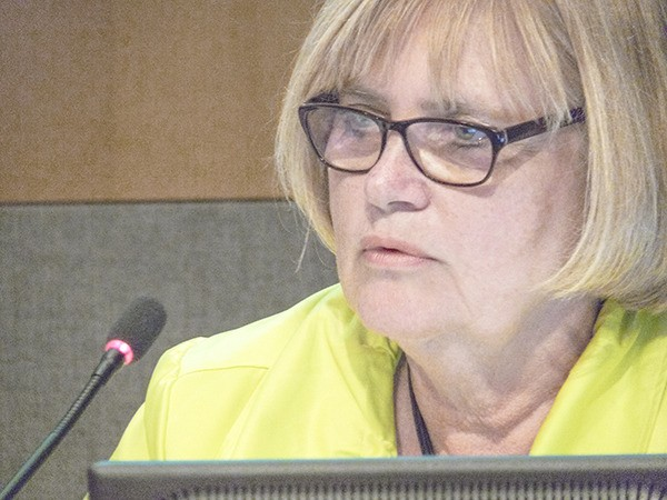 Township of Langley councillor Bev Dornan spoke in favor of a financial bailout for the Senior Games last month to help cover an $80,000 shortfall. The city also contributed.