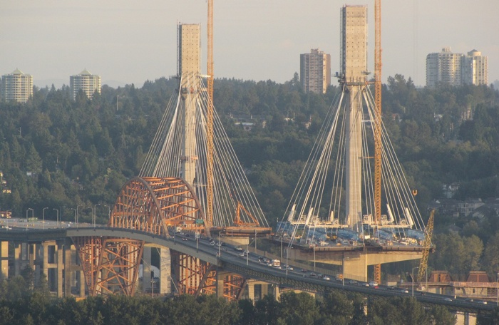 The new 10-lane Port Mann Bridge is now more than 50 per cent finished. It will be tolled electronically, like the Golden Ears Bridge.