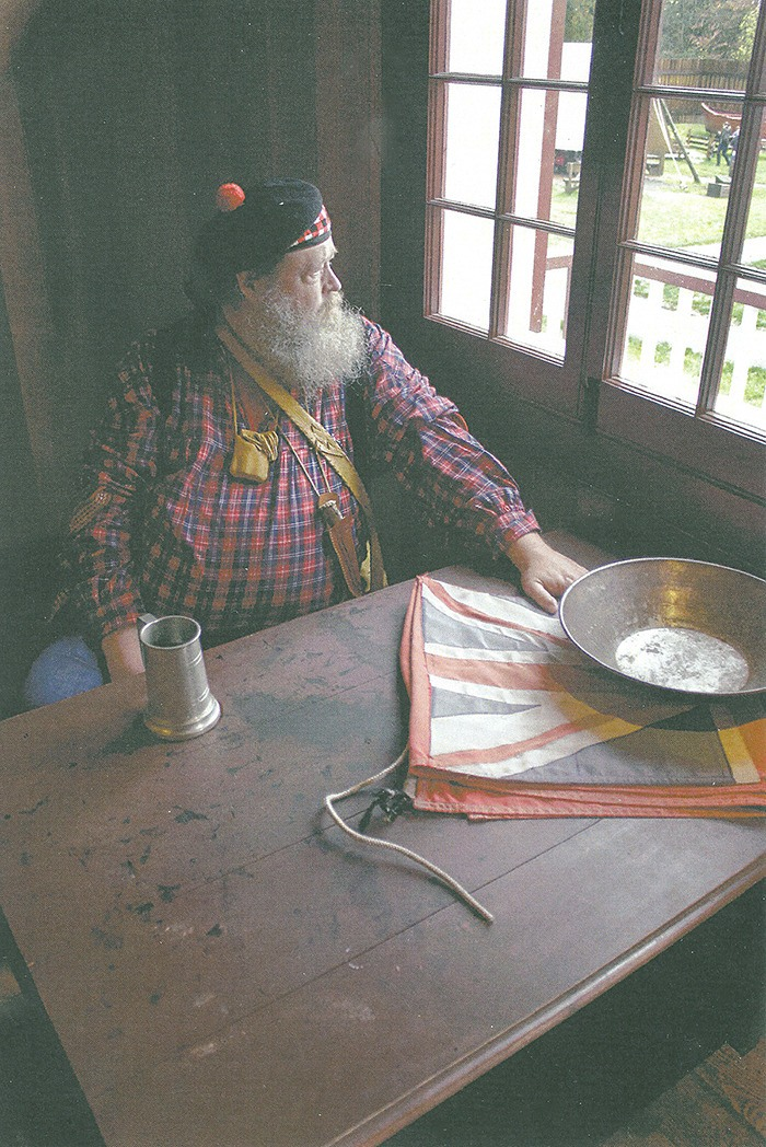 Volunteer James Adam lent a note of historical authenticity to the many costumes seen at the Halloween Hoot, held at the historic fort last weekend.
