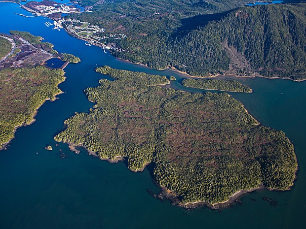 Lelu Island at the Prince Rupert port is the proposed location for an $11 billion LNG export terminal.