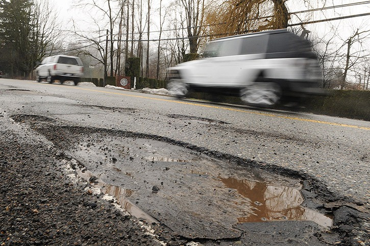 VIDEO: Potholes taking out tires one by one in the Lower Mainland