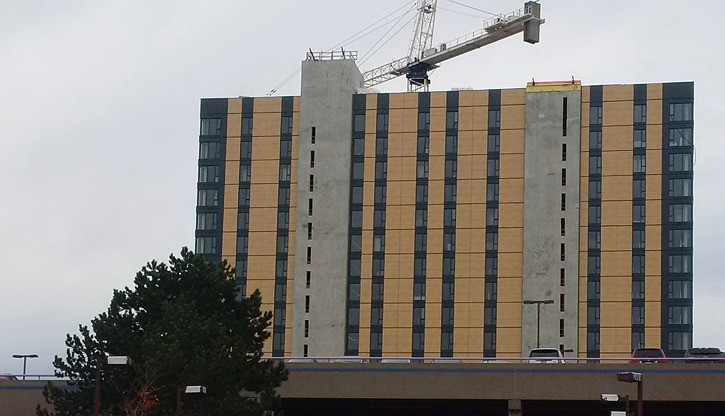 Brock Commons, student residence at UBC, is the tallest wood-hybrid building in the world. An even taller one is in the works for Penticton.