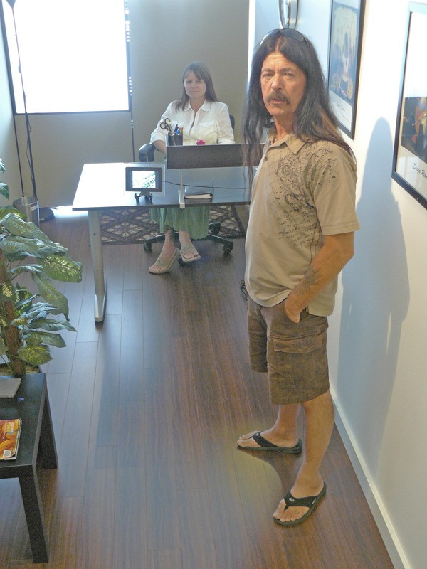 Randy Caine has converted his  medical  marijuana dispensary into a campaign office.