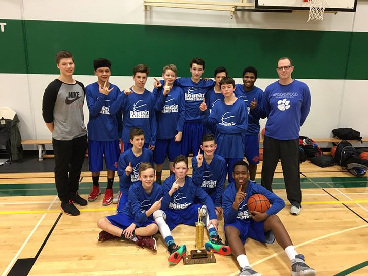 The Brookswood Bobcats Grade 8 boys basketball was the No. 4 seed when the district championships began, but were the champions once they ended thanks to a 38-28 victory over Langley Christian.
