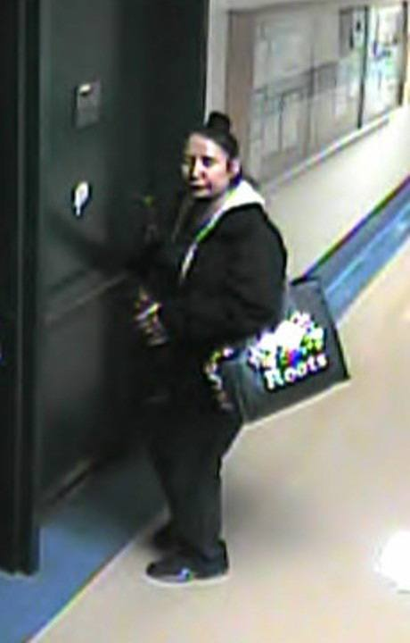 This woman was seen on the maternity ward of Langley Memorial Hospital right around the time the wallet and iPad of a new mom was taken on March 30. Police would like to speak with her.