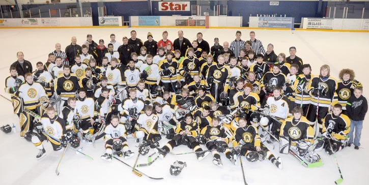 Four Aldergrove peewee and bantam teams participated in the Coleton Nelson Memorial Hockey Game, held March 9 at Aldergrove Arena, in memory of the victim of the fatal Feb. 18 collision.