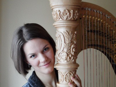Kwantlen Polytechnic and Trinity Western University alumna Maria Whelton will bring her harp to St. George's Anglican Church in Fort Langley on May 15.  The concert begins at  2:30  p.m. Admission is $10 at the door or $20 per family.