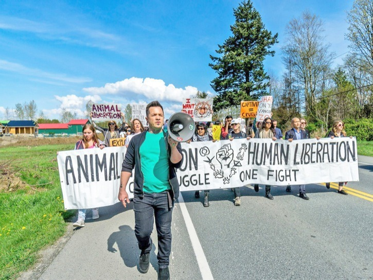 About 60 animal rights protesters picketed the Greater Vancouver Zoo in Aldergrove on Easter Sunday to say it should not be housing exotic animals and ought to be converted to an animal sanctuary. They called for a boycott. Zoo manager Jody Henderson said the group's Facebook page was misleading because it refers to animal cruelty charges against the zoo but doesn't mention the charges were stayed.