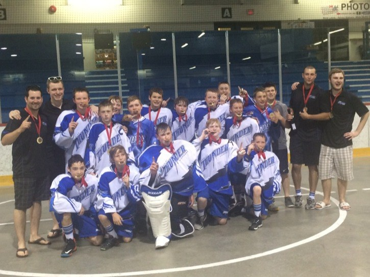 The Langley bantam Thunder captured the Penticton Barnburner tournament with an overtime victory over Abbotsford.