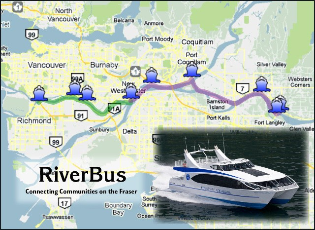 A RiverBus has been proposed to carry commuters between Langley and Richmond.