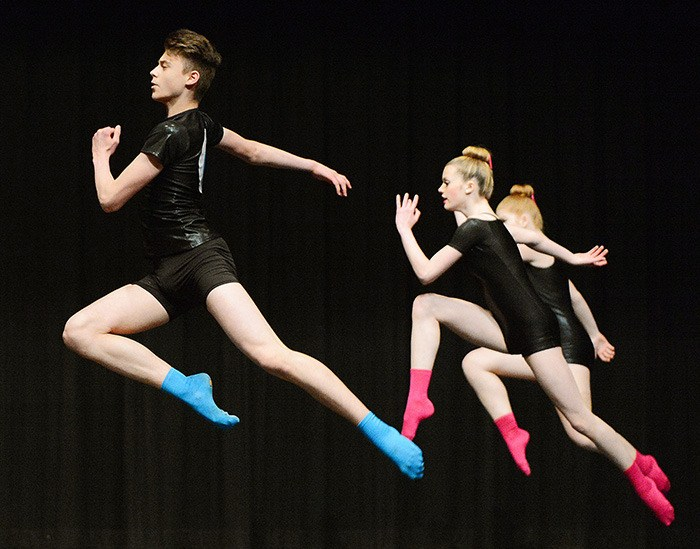 Members of Studio Once Dance Centre in Aldergrove perform 'Her' in the Group Modern category (age 14) on the final weekend of the 49th annual Surrey Festival of Dance on April 25.