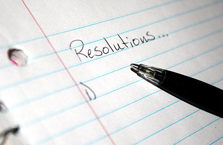 What's a few of your New Year's resolutions this year?