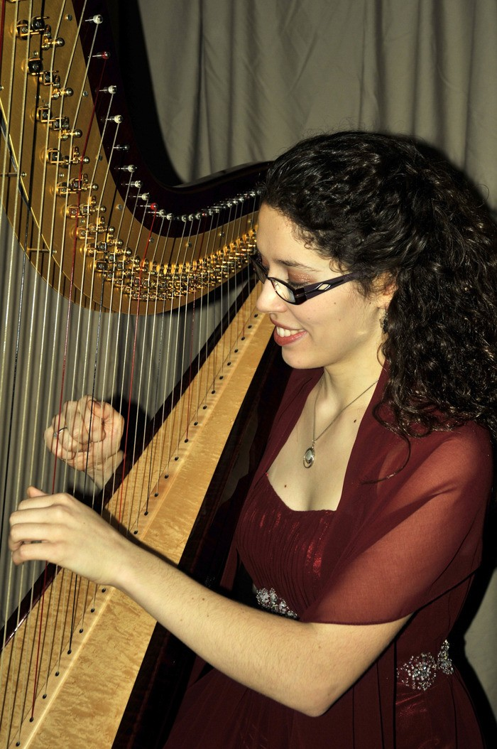 A concerto written especially for 19-year-old harpist Esther Cannon will be performed by the TWU orchestra.