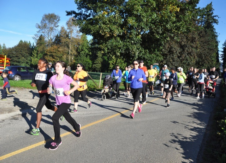 Gorgeous sunny weather brought out runners of all ages for the annual Pumpkin Run in Glen Valley on Sunday, Oct. 6. Hosted by Aldor Acres, the run raises funds for the Langley School District's trades training programs.