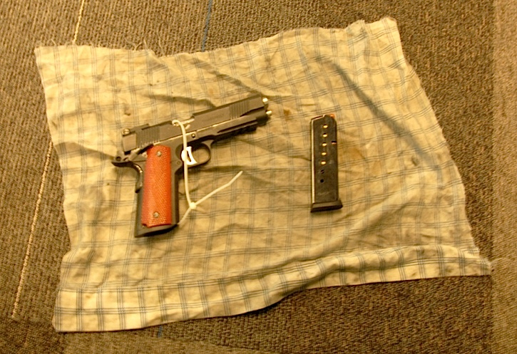 A Langley break and enter suspect is facing new weapons-related charges after police seized this fully-loaded handgun from a vehicle in Surrey.