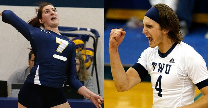 Trinity Western Spartans' Sophie Carpentier and Blake Scheerhoorn were named the Canada West first and third stars, respectively, as they led their teams to victory over the Winnipeg Wesmen.