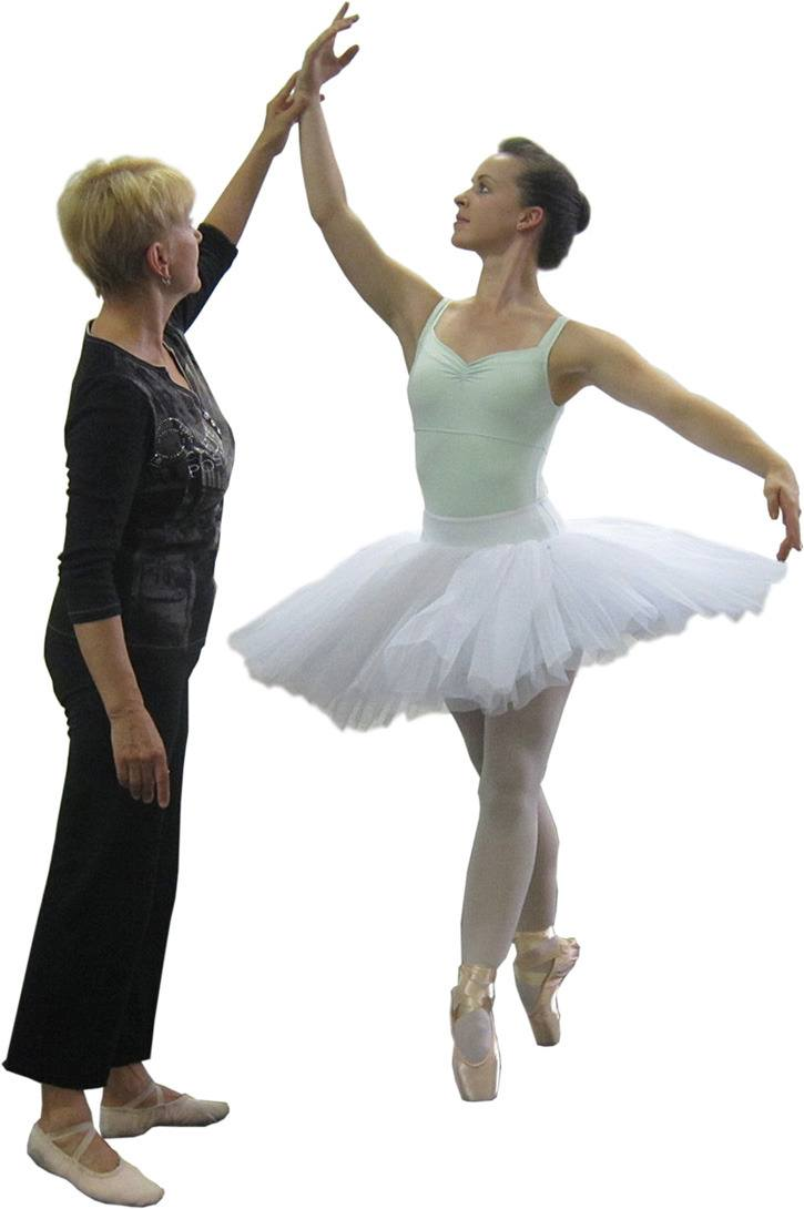 Langley ballerina Jessa Leroux (right) trains with instructor Irina Lavrova for her upcoming competition in Cape Town, South Africa.