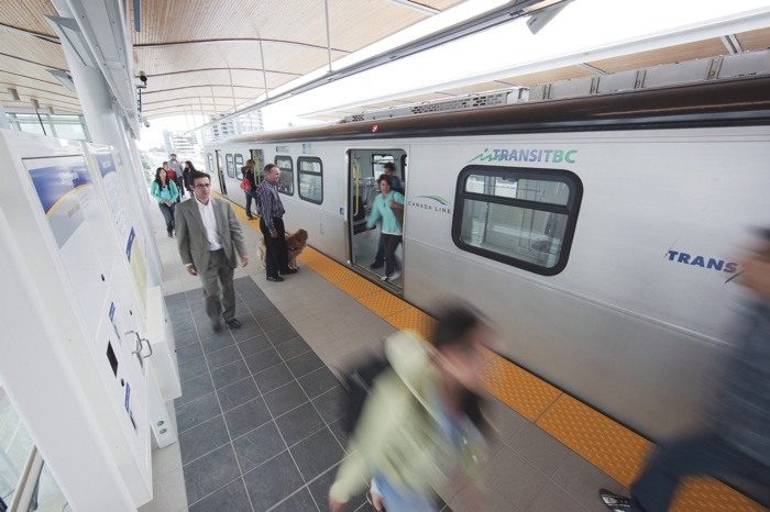 The Canada Line between Richmond, Vancouver and the airport carries 100,000 riders a day.
