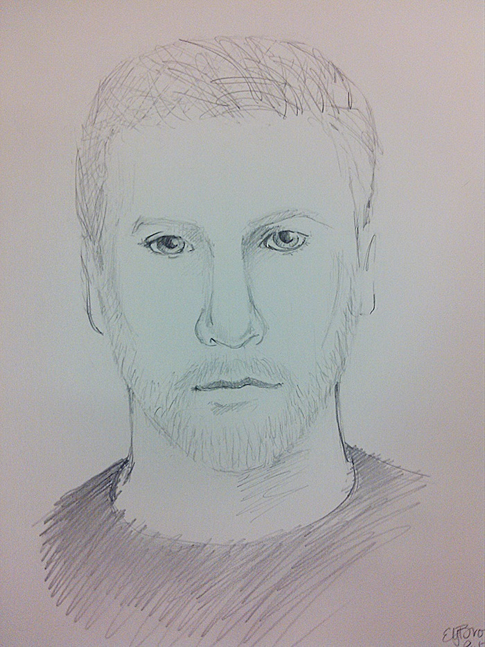 Artist sketch of suspect in attempted abduction of 10-year-old girl