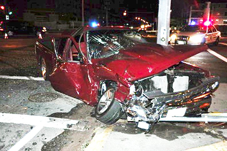 A pickup truck driven by a 17-year-old collided with an unmarked police vehicle on Monday evening (Sept. 12). No one was seriously injured in the crash, but early indications are that the police car had the right of way.