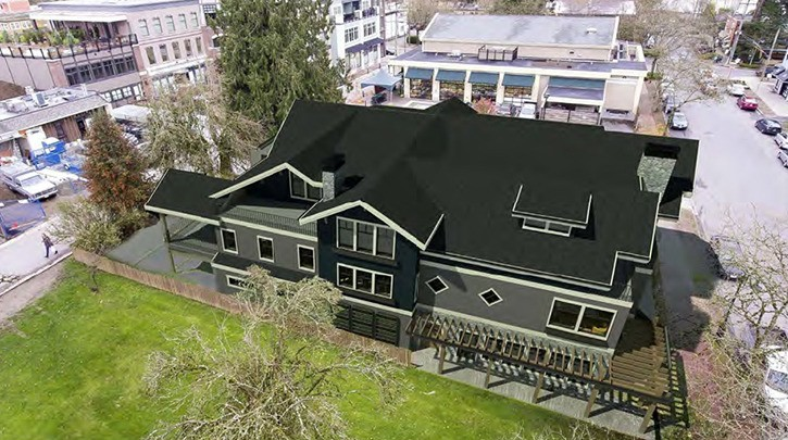 Artist rendering of The Albion on Church Street in Fort Langley.