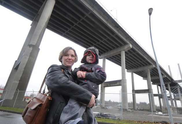 Cloverdale resident Heather Bannah works on Annacis Island and is one of the employees there who has seen commutes become much longer because of other motorists short-cutting through Annacis to get ahead of other drivers on the Alex Fraser Bridge.