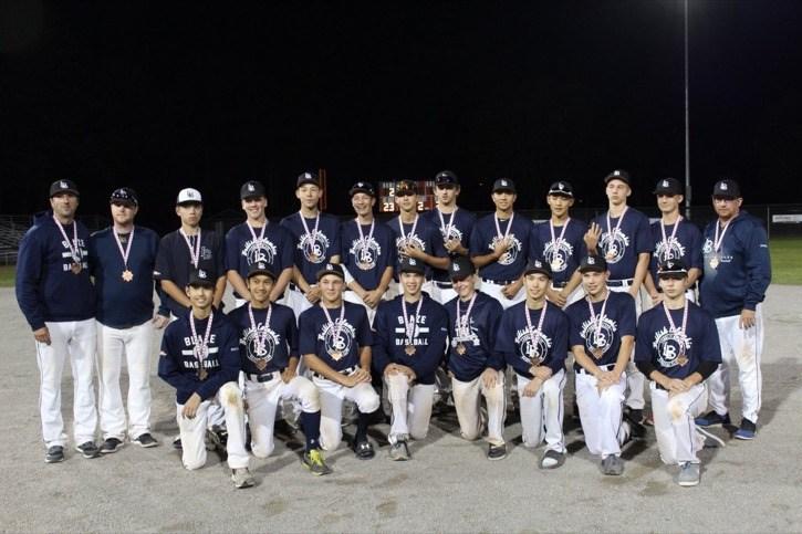 The Langley Blaze Prep team program wrapped up its first season by winning the bronze medal at the Baseball Canada national 15 and under championships in Prince Edward Island.