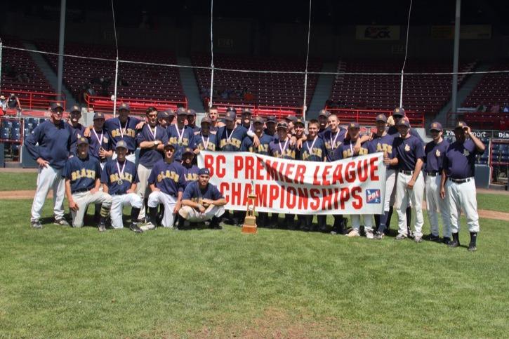 The Langley Blaze won the B.C. Premier Baseball League provincial championship on Sunday at Nat Bailey Stadium.