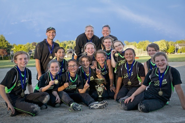 The Langley Xtreme captured the Lower Mainland girls squirt B tournament over the weekend in Vancouver.