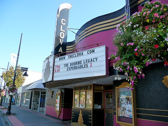The Clova Cinema in historic downtown Cloverdale, opened in 1947, is locally owned and operated.