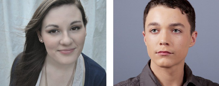 Langley's Katie Allinger, left, and Patrick Arnott will perform alongside giant puppets at this year's Fringe Festival.