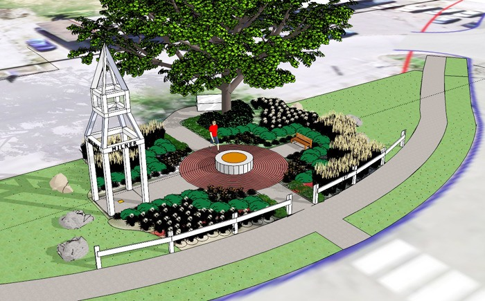 Artist rendering shows what an $80,000 commemorative cairn in Milner will look like once it is complete.