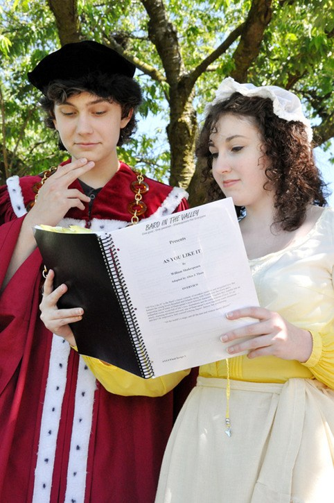 Langley students Jonathan Dearden, 16, and his sister Caroline Dearden, 19, have been cast together in As You Like It. Neither has performed a Shakespeare play before, but both say they are enjoying the process so far.