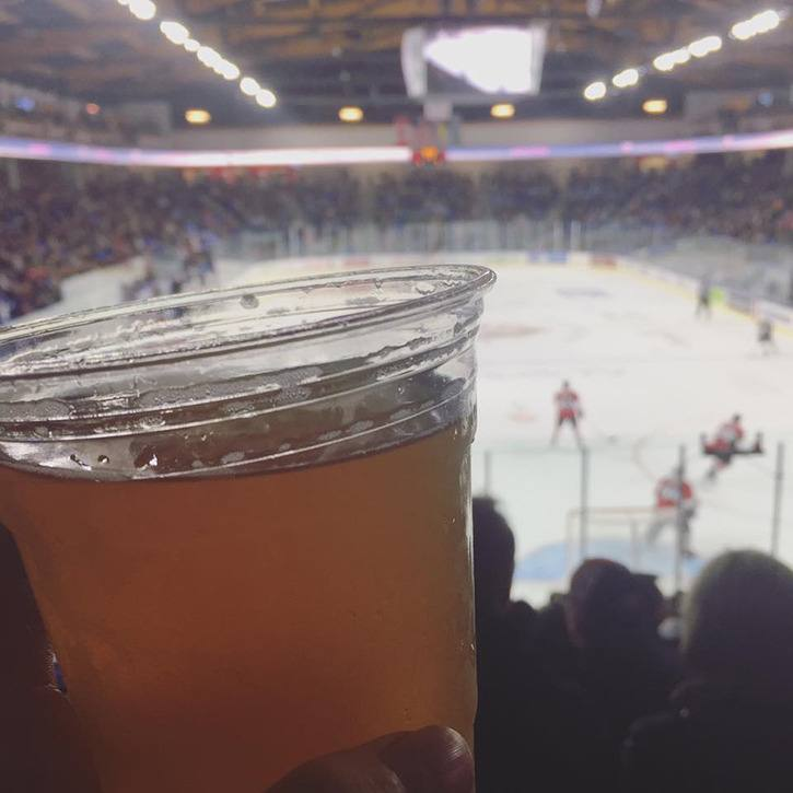 Langley's Trading Post lager being enjoyed at the Giants season opener on Friday, Sept. 23.