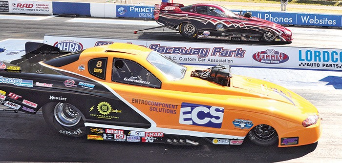 John Evanchuk and Steve Gasparelli will be among the competitors at this weekend's annual Lordco B.C. Nationals at Mission Raceway Park.