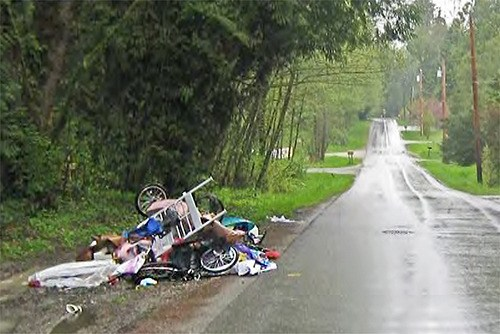 Many people who dump trash on Langley Township's roadsides do so because they have no other option, says one local realtor.;