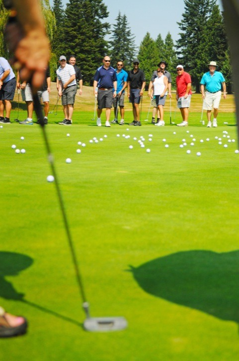 More than 120 golfers gathered in a circle around the 18th hole at Newlands Golf and Country Club last month (Aug. 13) to see just who was the best putter amongst the group. The contest was part of the annual Golf for Kids tournament, which raised close to $55,000 for Big Brothers Big Sisters of Langley.