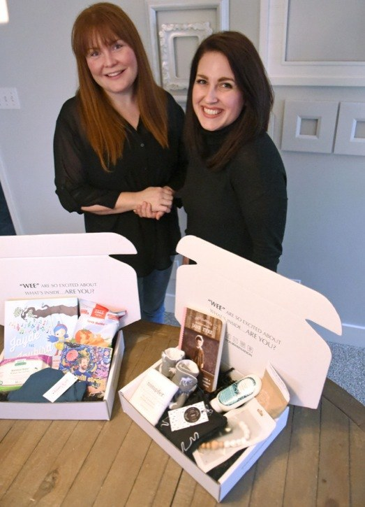 Wee Nation founders Jill Kirby (left) and Jessica Boldt. The life-long friends created the subscription box business for Canadian baby products.