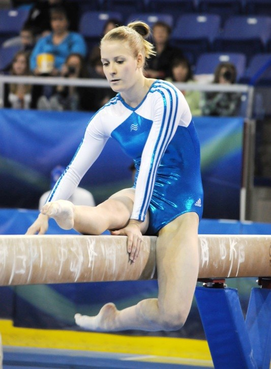 Langley Gymnastics Foundation's Kylie Macklin and Tyler Welch (below) display their prowess on the beam and rings, respectively at the Western Canadian Gymnastics Championships. For two days, the best gymnasts from B.C., Alberta, Saskatchewan and Manitoba competed at the Langley Events Centre.