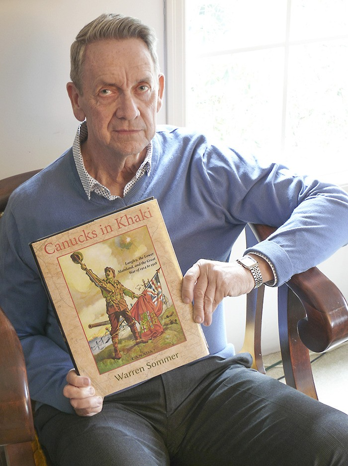 It took Warren Sommer 20 years of research to complete his comprehensive history of the First World War as experienced by residents of Langley. The book will officially launch on the 100th anniversary of Vimy Ridge.